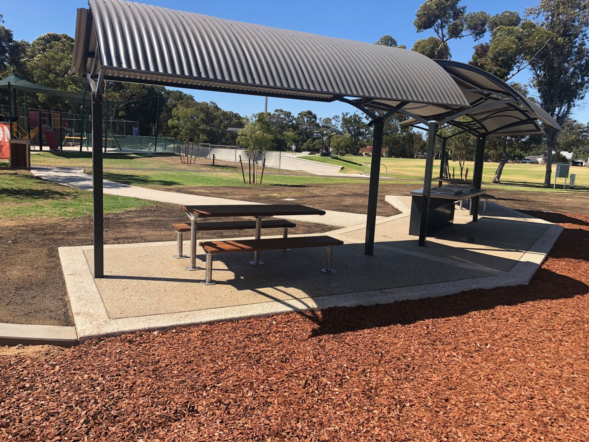 Cowaramup Skate Park shelters and new accessible seating